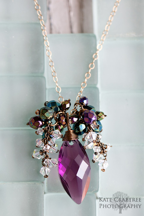 A necklace by Emily Delfin of Reflections Jewelry