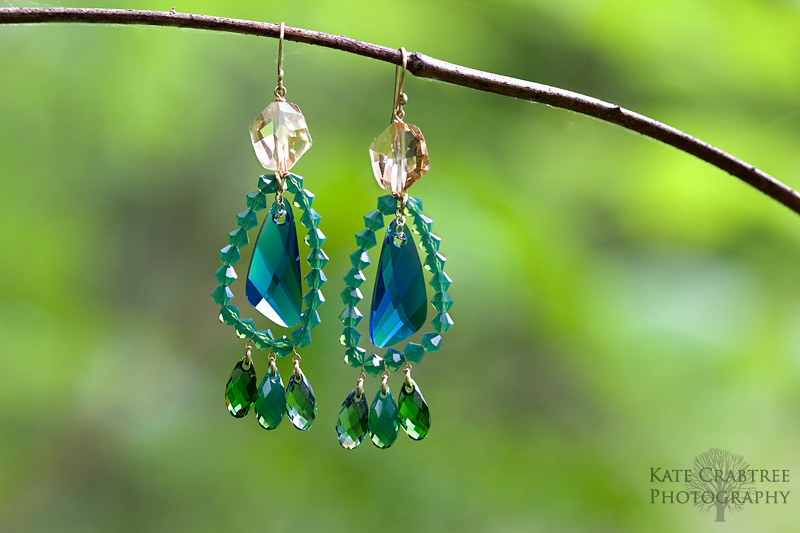 Kate Crabtree, a Maine professional photographer, took a photo of a gorgeous pair of earrings by Emily Delfin of Reflections Jewelry