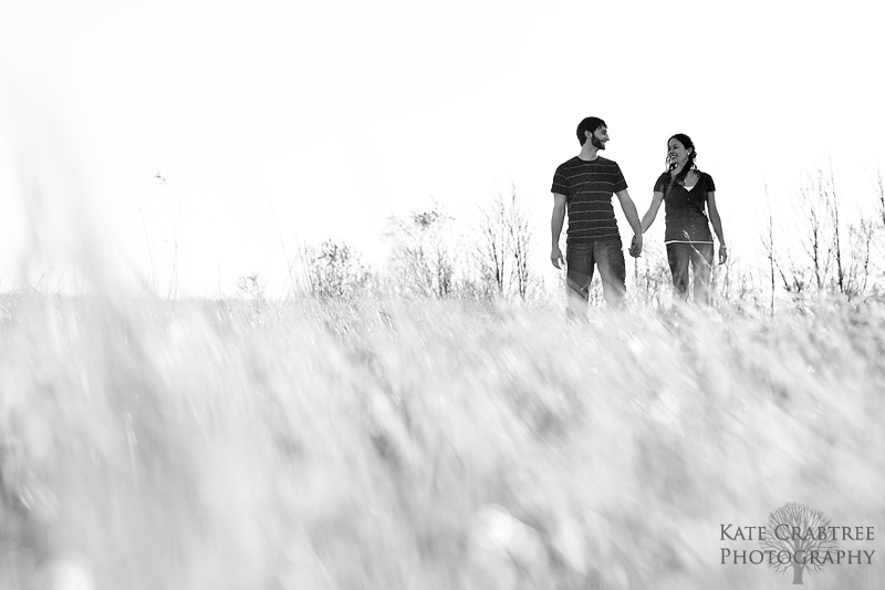 Amy Reid and Chris Dunlop pose during their engagement session in Bangor Maine