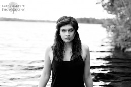 Maine fashion and wedding photographer Kate Crabtree snaps this photo of Rebecca looking dramatic