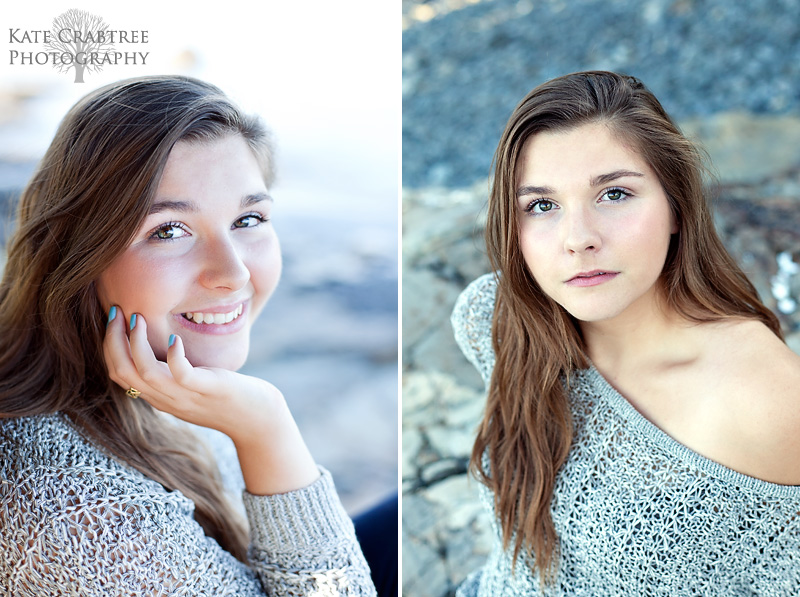 Maine senior portrait photographer captures this portrait of Morgan Bragdon in Bar Harbor Maine