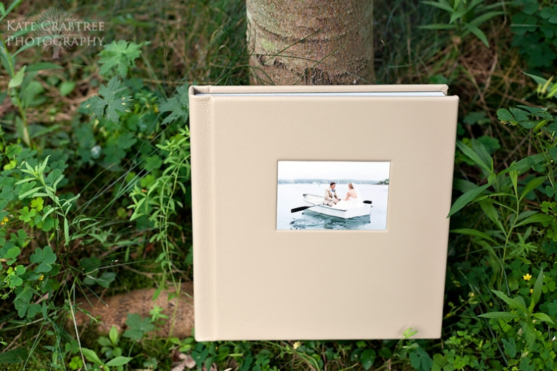 Maine wedding photography Kate Crabtree showcases her wedding albums