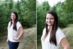 Senior portrait photographer Kate Crabtree took senior portraits of Bangor High School senior Sarah