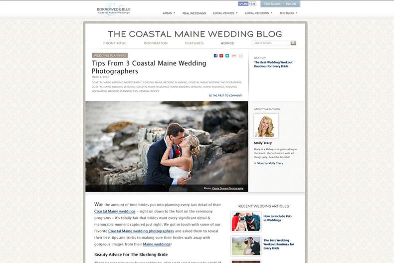 Featured Coastal Maine Wedding Photographer Ad