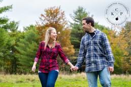 Engagement Portraits in Mt. Vernon, Maine - Laura & Dan | Maine Wedding Photographer | Kate Crabtree Photography 21
