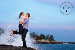 Bonnie and Mike's Pemaquid Point Engagement Portraits | Maine Wedding Photographer | Kate Crabtree Photography 16