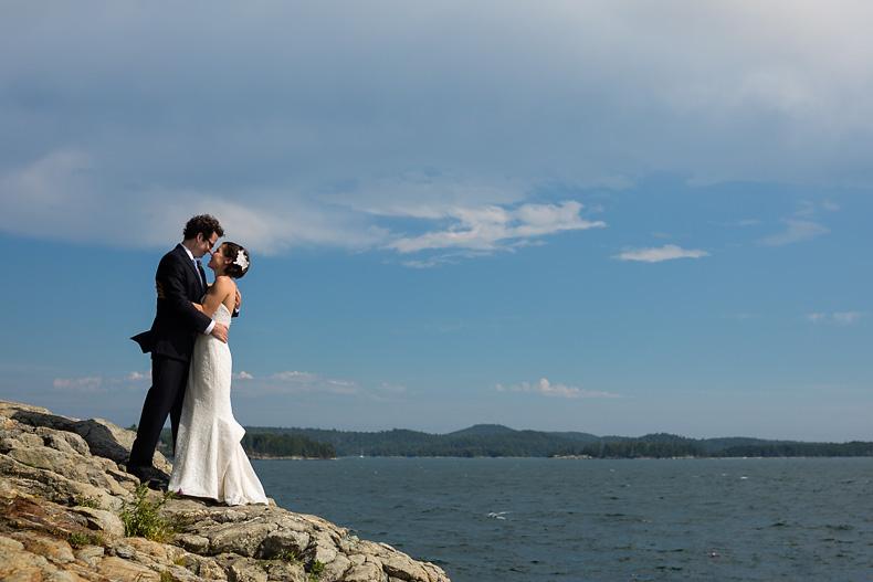 Wedding photos in Castine Maine