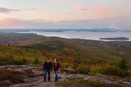 Portraits taken in the fall on Cadillac Mountain in Acadia National Park