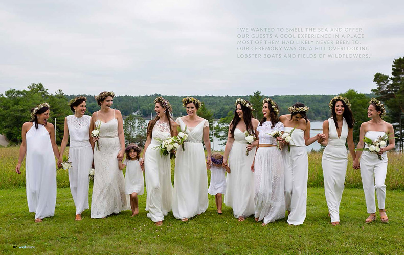 All White Wedding Party Nt