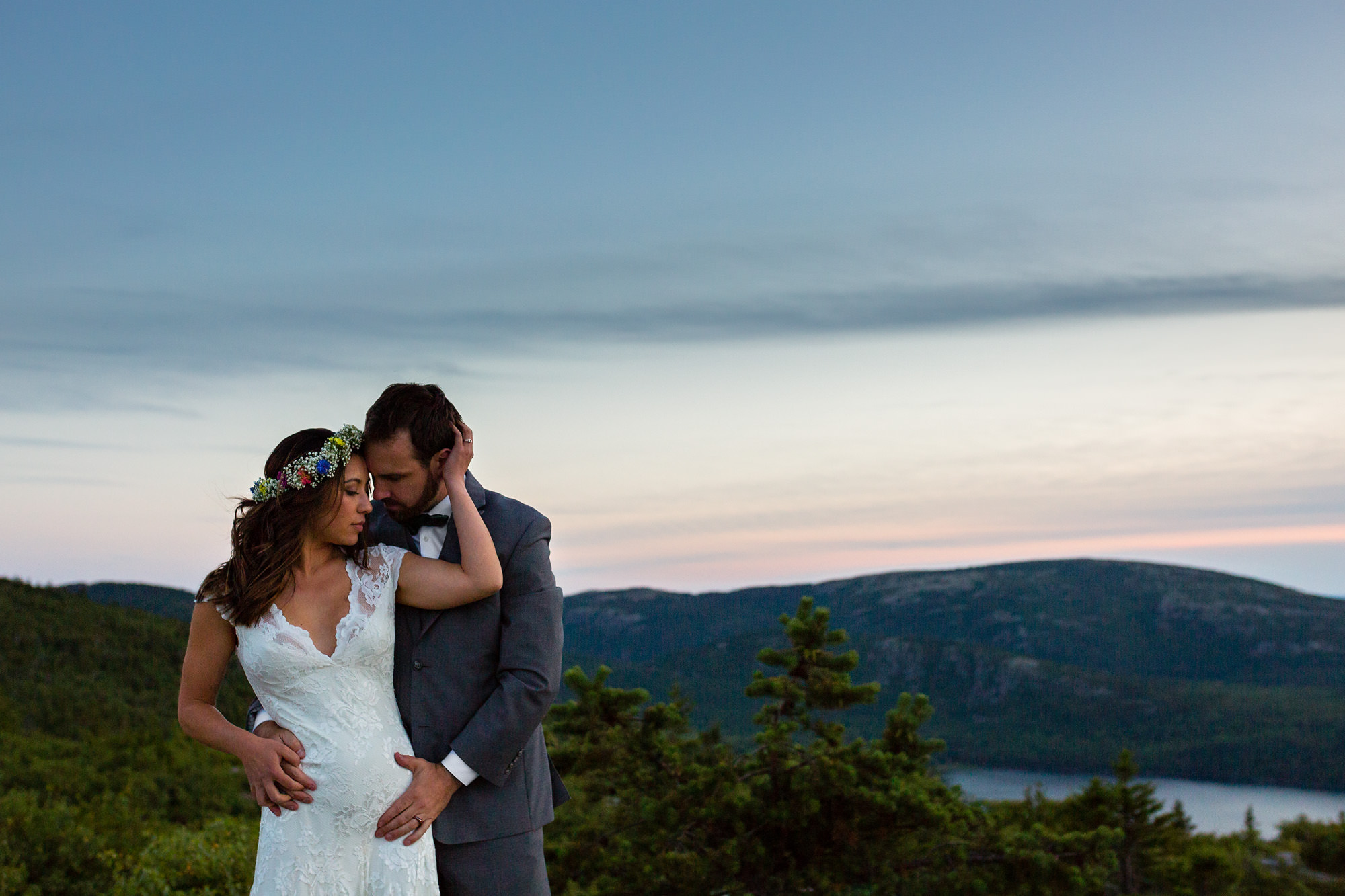 Beautiful Elopement Photos Of A Bride And Groom On Cadillac Mountain