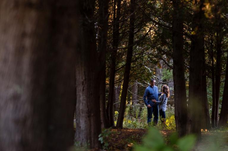 Jaimie and Cory engagement session at Jordan Pond at Acadia National Park