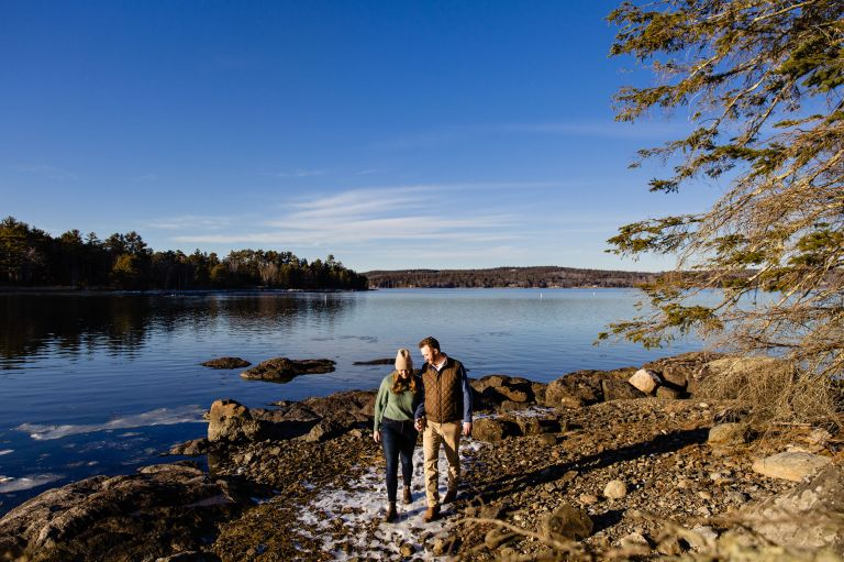 Engagement portraits in Blue Hill, Maine