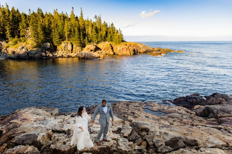 A first look on a rocky beach in Acadia National Park